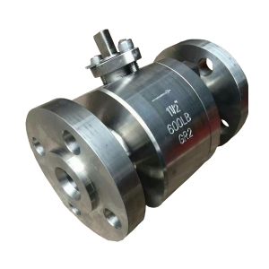 1 1/2'' 600LB titanium Gr 2 RF flange 2pc full port level operated ball valve