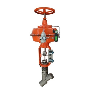1'' 300LB A182 F22 SW end diaphragm pneumatic with hand wheel Y type power plant drain valve