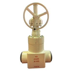 10 '' 2500LB A105 high pressure seal BW hand wheel gate valve