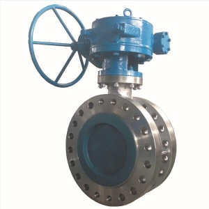 12'' 600LB CF8M metal seat triple offset butterfly valve handle wheel with worm gear operator RF connection butterfly valve