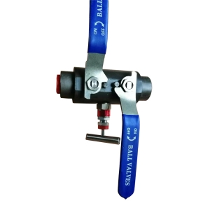 2'' 6000psi 45# steel SW ends level operated double block & bleed ball valve with needle drain valve