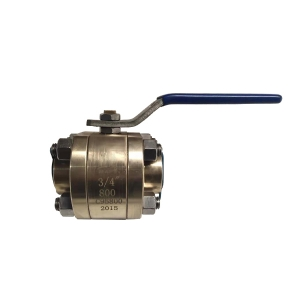 3/4'' 800LB  ASTM B148 UNS C95800 SW 3pc full port floating level operated ball valve