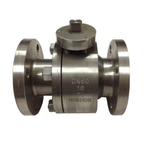 DN50 PN16 B381 F2 metal seated floating RF connection 2 pc bare stem ball valve