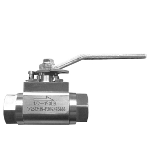Level operated 1/2'' 150LB ASTM A182-F304 Tungsten Carbide seat floating NPT connection 3 pc ball valve