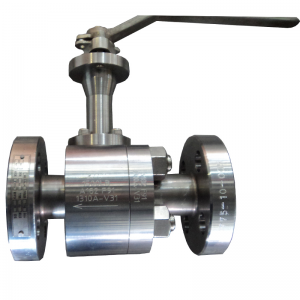 Level operated 3/4'' 1500LB A182 F91 hard face floating reduce port RF connection ball valve