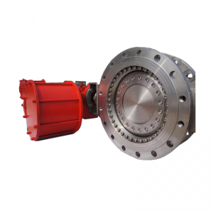 Pneumatic 8'' 150LB CF8M metal to metal seat triple off set RF connection butterfly valve
