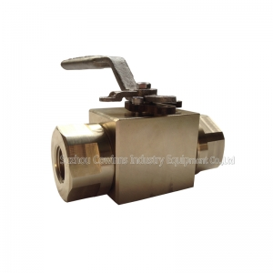 manual 1/2'' 150LB ASTM B348 Gr. F-2 PTFE seat floating NPT connection 3 pc ball valve