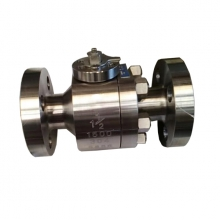 1 1/2'' 1500LB F304 seat RF flange full port floating level operated ball valve