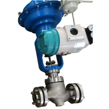 1'' 300LB  CF8 RF end pneumatic actuator with Siemens explosion pneumatic with hand wheel control valve