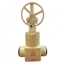 China 10 '' 2500LB A105 high pressure seal BW hand wheel gate valve factory