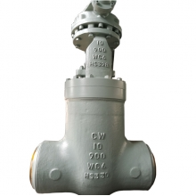 China 10'' 900LB A217 WC6 high temperature steam high pressure power plant butt weld gate valve factory