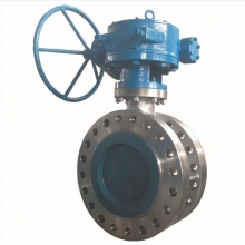 China 12'' 600LB CF8M metal seat triple offset butterfly valve handle wheel with worm gear operator RF connection butterfly valve factory