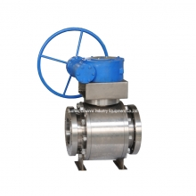 150LB 10'' ASTM B381 F2 ball valve RPTFE seat RF flange full port floating worm gear hand wheel ball