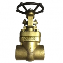 2 '' 150LB UNS c95800 SW gate valve for sea water in nickel-aluminum bronze