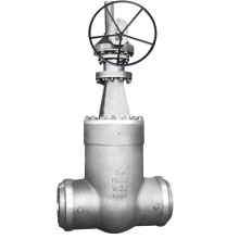 China 24'' 1500LB  A217 WC6 power plant pressure seal BW end gate valve factory