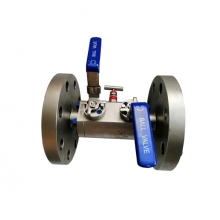 3* 1 1/2'' 300LB ASTM A 182 F316 RF flange ends level operated double block & bleed ball valve
