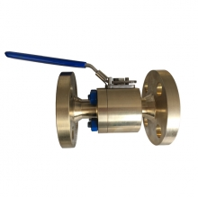 3/4'' 300LB  ASTM B148 UNS C95800 RPTFE seat FF reduced port floating level operated ball valve
