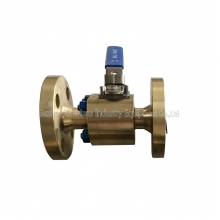 300LB 3/4'' ASTM B148 UNS C95800 RPTFE seat FF reduced port floating level operated ball valve