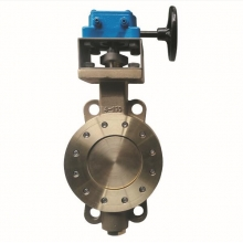 4'' 150LB C95800 PTFE seat wafer type handle wheel butterfly valve