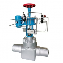 4'' 2500LB A182 F316 BW end ABB positioner flow rate control valve