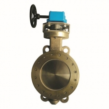 6'' 150LB C95800 lug wafer type handle wheel with worm gear operated butterfly valve