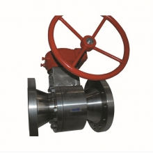 China 6'' 300LB B381 F2 RF flange 2pc reduce port hand wheel operated ball valve factory