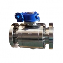 8inch 800LB F304 metal to metal seated trunnion RF flange 3 pc worm gear operated ball valve