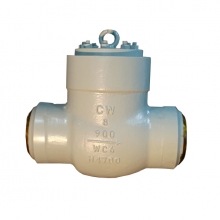 China 8inch 900LB ASTM A217 WC6 High temperature high pressure seal BW check valve factory