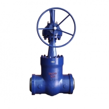 China DN300 PN320 WC6 High temperature high pressure seal BW gate valve factory