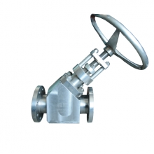 DN80 PN25 B348 Gr2 RF handle wheel Y type globe valve