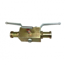 Handle 1'' 6000psi ASTM A105 SAE connection 2 floating balls and 1 needle valve DBB (double block and bleed) valve