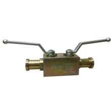 Handle 1inch 6000psi ASTM A105 SAE end 2 floating balls and 1 needle valve DBB (double block and bleed) valve