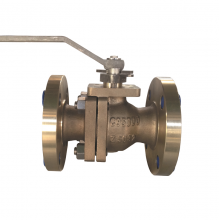 China Handle operated 2'' 150LB ASTM B148 UNS C95800 casting PTFE seat floating FF connection 2 pc ball valve fábrica