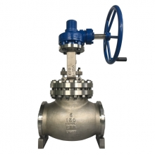 Handle wheel operated 6'' 150LB ASTM A351 CF8 BW connection bellow sealed globe valve