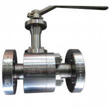 China Level operated 3/4'' 1500LB A182 F91 hard face floating reduce port RF connection ball valve factory