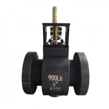 bare stem 6'' 900LB A105 trunnion mounted full port RF ball valve